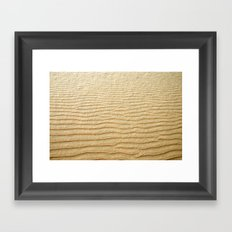 NATURAL SAND ART Framed Art Print