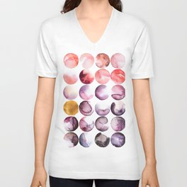 Blush Abstract Circles Unisex V-Neck