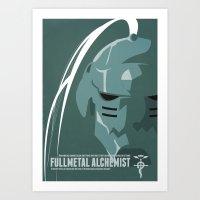 fullmetal Art Prints featuring Fullmetal Alchemist Alphonse Helmet Series   by Cory Payne