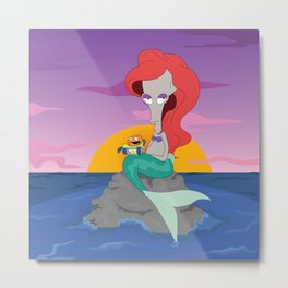 Roger The Little Mermaid Metal Print