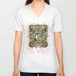Switchplate - Surreal Geometric Abstract Expressionism Unisex V-Neck