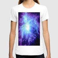 nebula T-shirts featuring NEBula Purple Periwinkle Blue by Galaxy Dreams