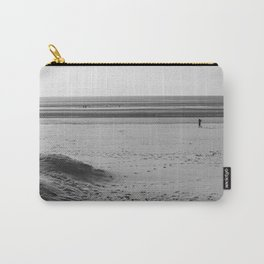 Beach in winter with some walkers Carry-All Pouch