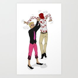 Awkward sibling love - One Piece Art Print