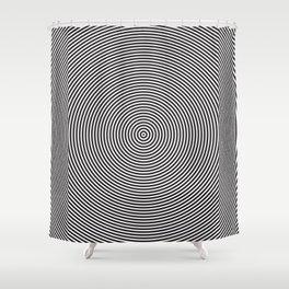 op art - circles Shower Curtain