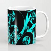 skyrim Mugs featuring Celtic Loop Green by Astrablink7