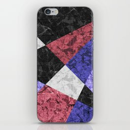 Marble Geometric Background G435 iPhone Skin