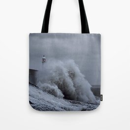 Waves at Porthcawl Tote Bag
