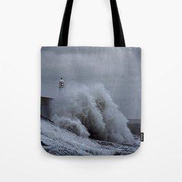 Waves at Porthcawl Tote Bag