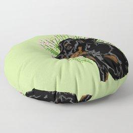 Dobermann pincer calm - Green Floor Pillow