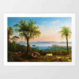The Gulf of Pozzuoli, Campania, Italy by Jakob Philipp Hackert Art Print