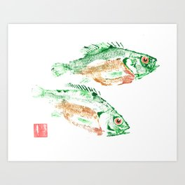 Sunfish Pair Art Print