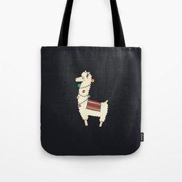 Christmas llama Tree Tote Bag