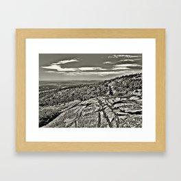 Rocky Landscape Phtography Framed Art Print