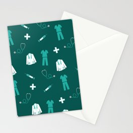 Medical Professional Pattern Stationery Cards