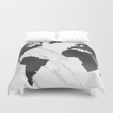 Animals black white and vintage duvet covers society6 marble world map black a gumiabroncs Gallery