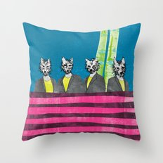 lupi (they are looking at you) Throw Pillow