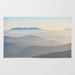 Erie Layered Mountains Landscape Rug