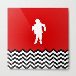Black Lodge Dreams: Man From Another Place (Twin Peaks) Metal Print