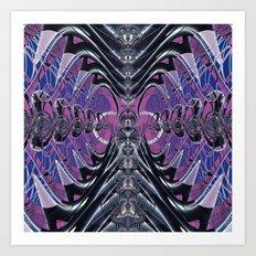 Purple Galaxy Art Print