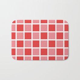 Modern Checkers (red tiles) Bath Mat