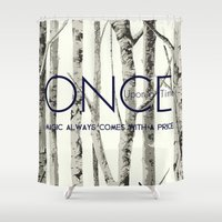 ouat Shower Curtains featuring Once Upon a Time (OUAT)  by Canis Picta