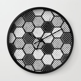 Black and White Pixel Magic Wall Clock