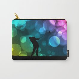 Golfer Driving Bokeh Graphic Carry-All Pouch