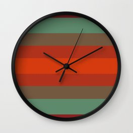 Rust Turquoise Spice - Color Therapy Wall Clock