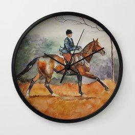 Fall Rider Wall Clock