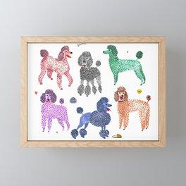 Poodles by Veronique de Jong Framed Mini Art Print