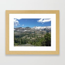 Ascent of Mt. Tallac Framed Art Print