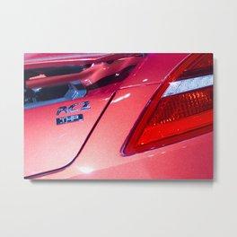 Peugeot RCZ Back Light Metal Print