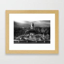 la Rotonde, Aix en Provence Framed Art Print
