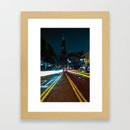 Transamerica Building at Night Framed Art Print
