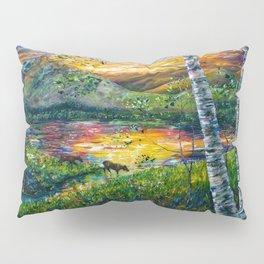Sleeping Meadow - Colorado Moose Crossing by OLena Art Pillow Sham