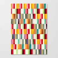 stripes Canvas Prints featuring Stripes by Danny Ivan
