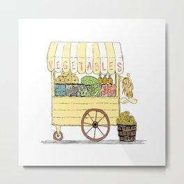 Vegetable Cart Metal Print