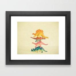 Dinosaur Antics Framed Art Print