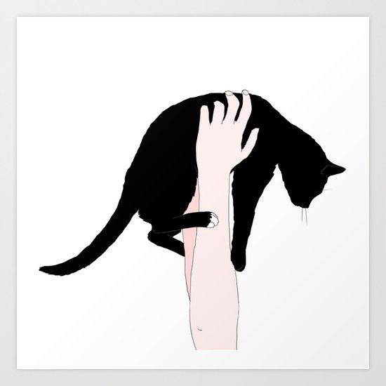 me and my cat  Art Print