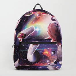 Cowboy Space Cat On Wolf Unicorn - Burrito Backpack