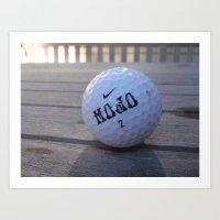 Mojo Golf Ball Art Print