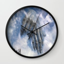 In the sky, hands Wall Clock