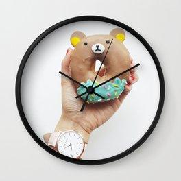 donuts bear Wall Clock