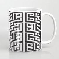 greek Mugs featuring Greek Print by I Love Decor