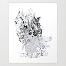 Cherokee Bear Art Print