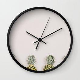 Pineapples in a Row Wall Clock