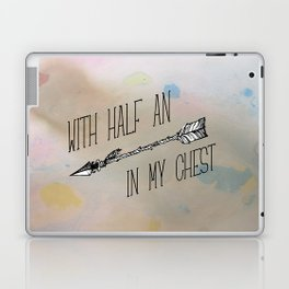With half an arrow in my chest. Louis Tomlinson. Tattoo. (Larry Stylinson) Laptop & iPad Skin