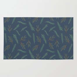 A Walk In The Pine Forest Pattern Rug