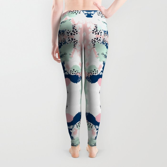 Kimmie - abstract painting modern hipster trendy urban city painterly boho home college dorm decor  Leggings